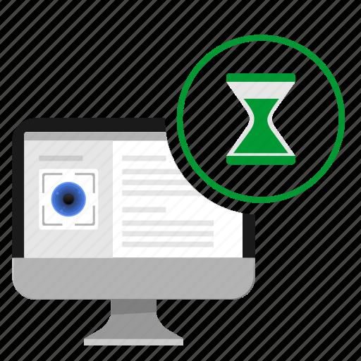 biometry, data, eye, loading, monitor, scan icon