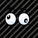 confusion, emoji, emotion, expression, eye, face, fear icon