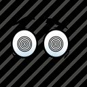 emoji, emotion, emotions, expression, eye, miracle, spin icon