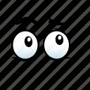 emoji, emotion, emotions, expression, eye, face, fear icon