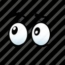 emoji, emotion, emotions, expression, eye, face, think icon