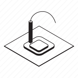 manufacturing, printing icon