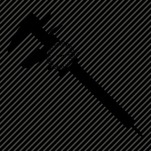 analogic, caliper, measurement icon