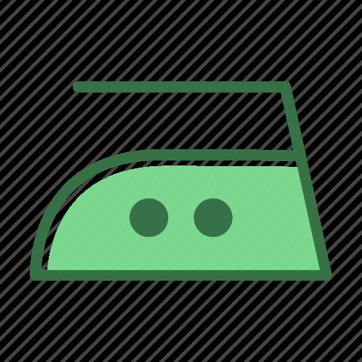 heat, iron, laundry, med, medium, temperature icon