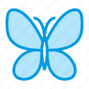 butterfly, light, silk icon