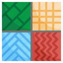 patterns, fabric, pattern, sample, cloth icon