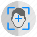biometry, detect, face, person, scan icon