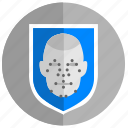 access, biometry, face, guard, safety, security icon
