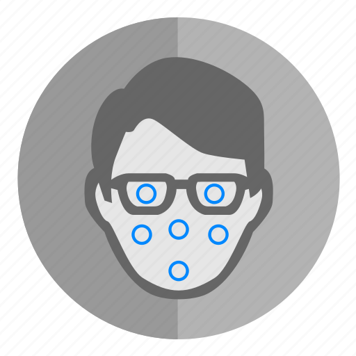 biometry, dots, face, identity, map, scan icon