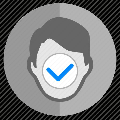 accept, access, complete, face, identity, ok, skin icon