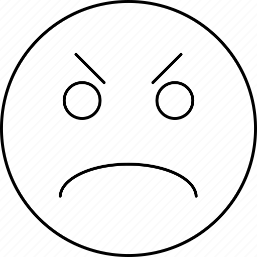 angry, emotions, face, smiley icon