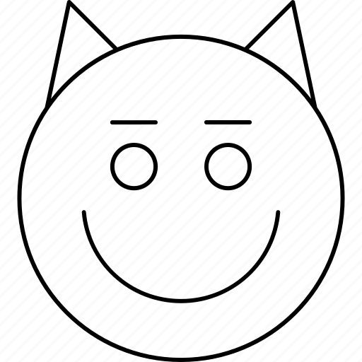 devil, emotions, face, smiley icon