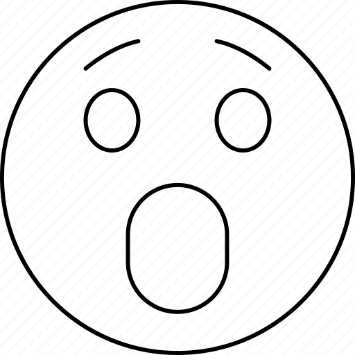 emotions, face, smiley, surprise icon