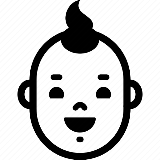 baby, emotion, face, happy, head, laugh, smile icon