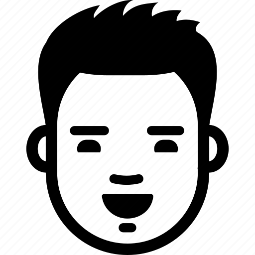 face, guy, happy, laugh, male, man, smile icon