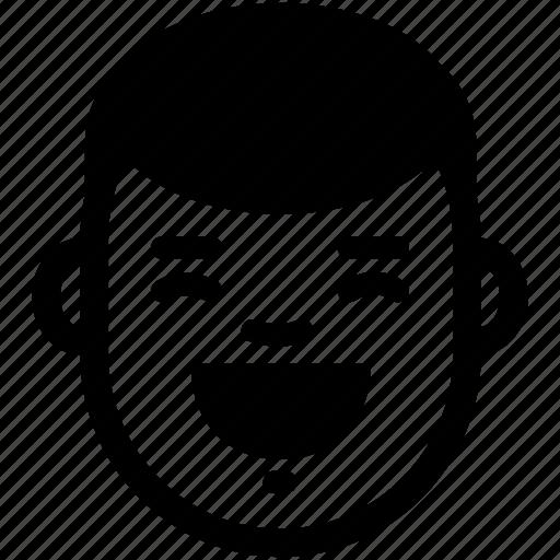 boy, emotion, face, funny, happy, laugh, smile icon