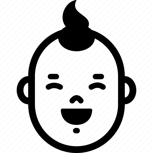 Baby, boy, face, happy, laugh, smile, emotion icon - Download on Iconfinder