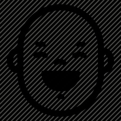 baby, face, funny, happy, head, laugh, smile icon