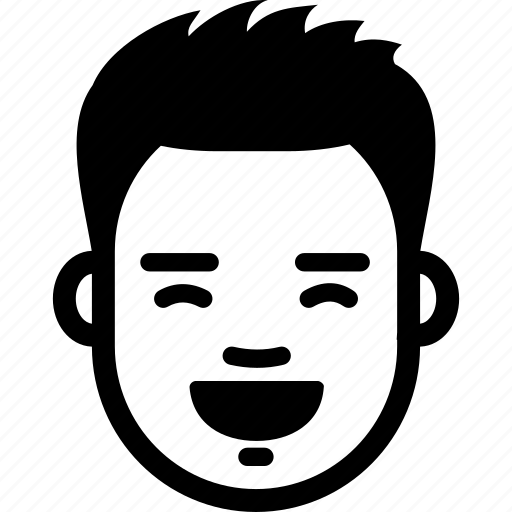 emotion, face, guy, happy, laugh, man, smile icon