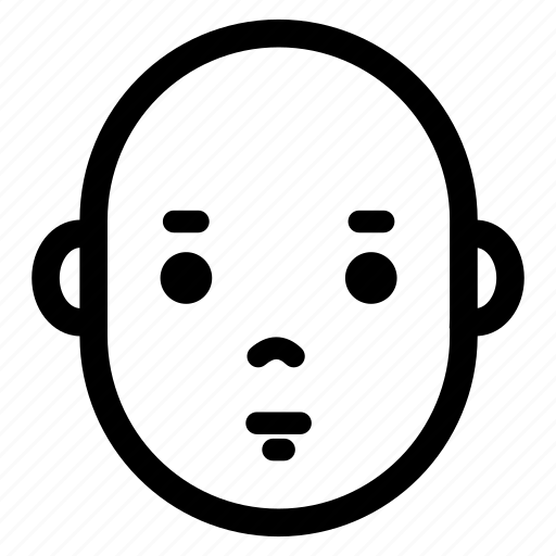 baby, emotion, expression, face, head, neutral icon