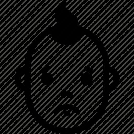 baby, boy, emotion, face, sad, sorry, upset icon