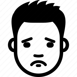 avatar, face, guy, male, sad, sorry, upset icon