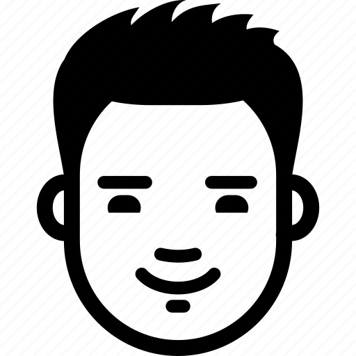 avatar, emotion, face, glad, guy, male, smile icon