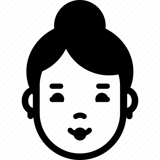 avatar, emotion, face, female, smile, woman icon