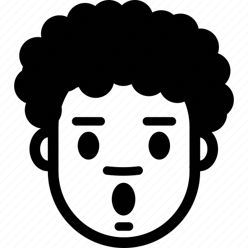 boy, emotion, face, head, man, surprised, wow icon