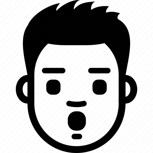 Avatar, emotion, face, guy, surprised, wow icon - Download on Iconfinder