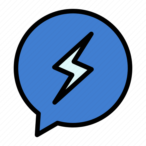 chat, chating, power, sms icon