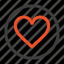 cack, favorite, heart, love icon