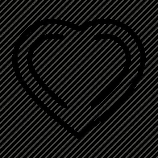 facebook, heart, like, love, media, social media icon