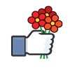 favorites, flowers, happiness, heart, like, love icon