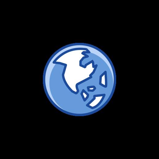 earth, globe, map, notification icon