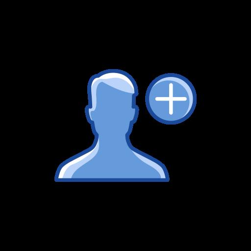 add contact, add friend, friend request, user icon