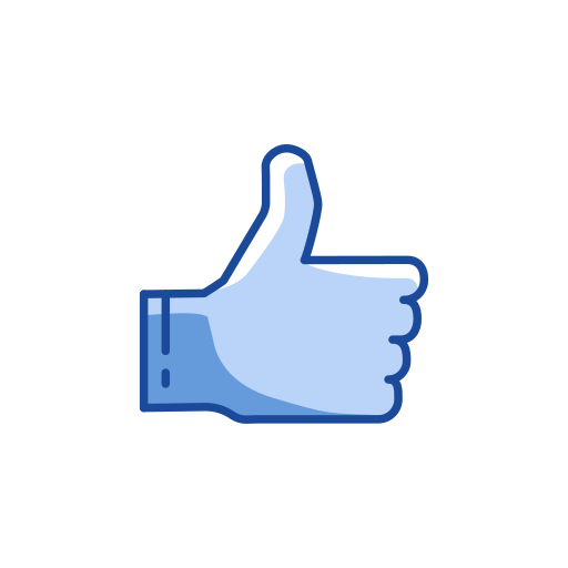 approved, hand, like, reaction icon