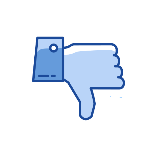 disapproved, reaction, thumbs down, unlike icon