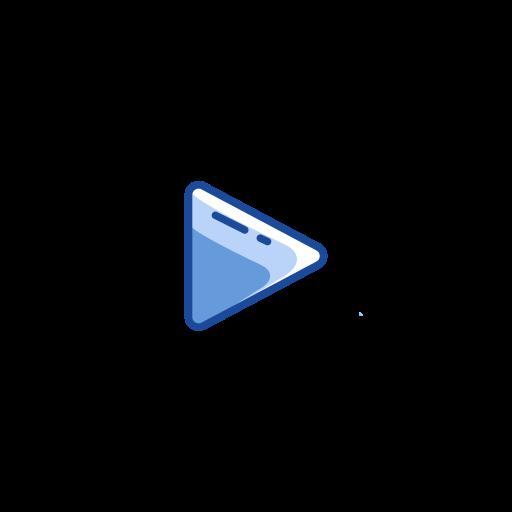 arrow, play, play button, record video icon