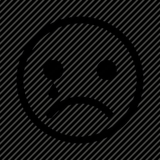crying, sad, unhappy icon