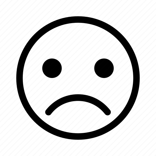 sad, sad face, sadness, unhappy icon