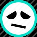 emoji, emotion, face, faces, feeling, just, sad icon