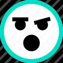 emoji, emotion, face, faces, feeling, wow icon