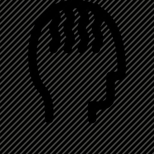 dreadlock, face, man icon