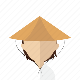 asia, avatar, hat, men, photo, vietnam, vietnamese icon