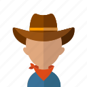 american, avatar, cowboy, hat, horseman, men, texsas icon