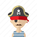 avatar, corsair, criminal, men, photo, pirate, skull icon
