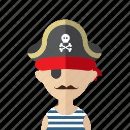 avatar, corsair, criminal, men, photo, pirate, skull icon