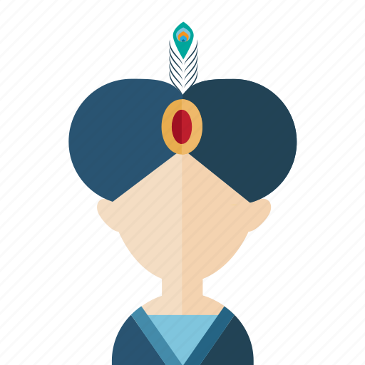 avatar, illusionost, magic, magician, medium, men, turban icon