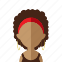 africa, afro, avatar, women icon